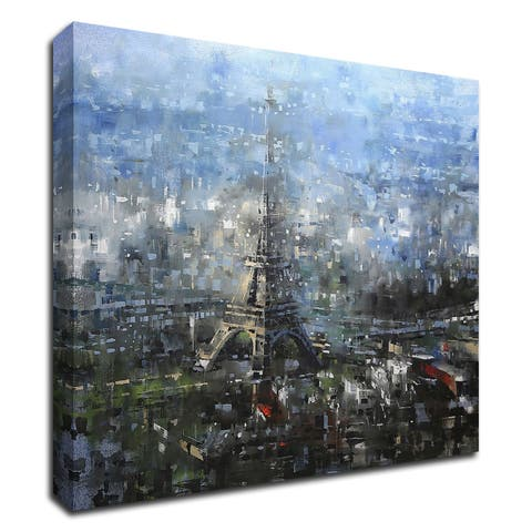 """Blue Paris"" by Mark Lague, Print on Canvas, Ready to Hang"