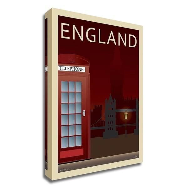 """Telephone Box"" by Incado, Print on Canvas, Ready to Hang"