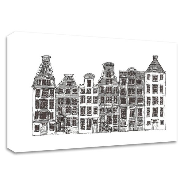 """Amsterdam I"" by Incado, Print on Canvas, Ready to Hang"