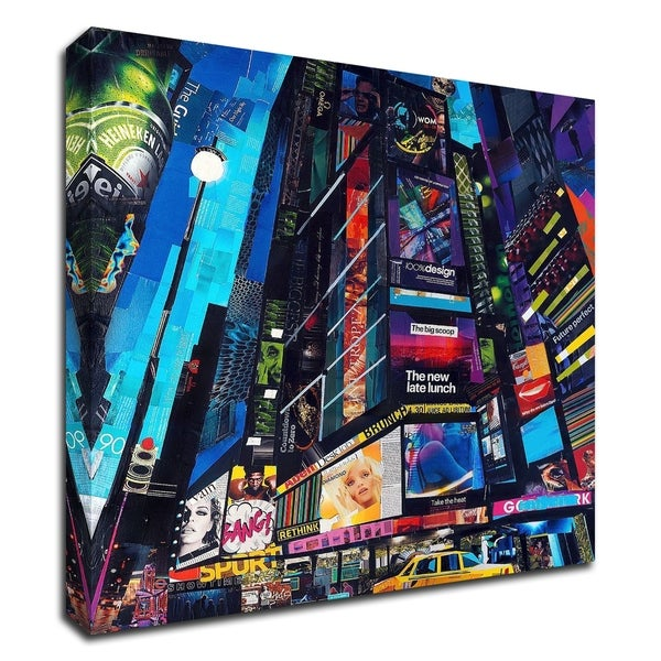 """City Night"" by James Grey, Print on Canvas, Ready to Hang"