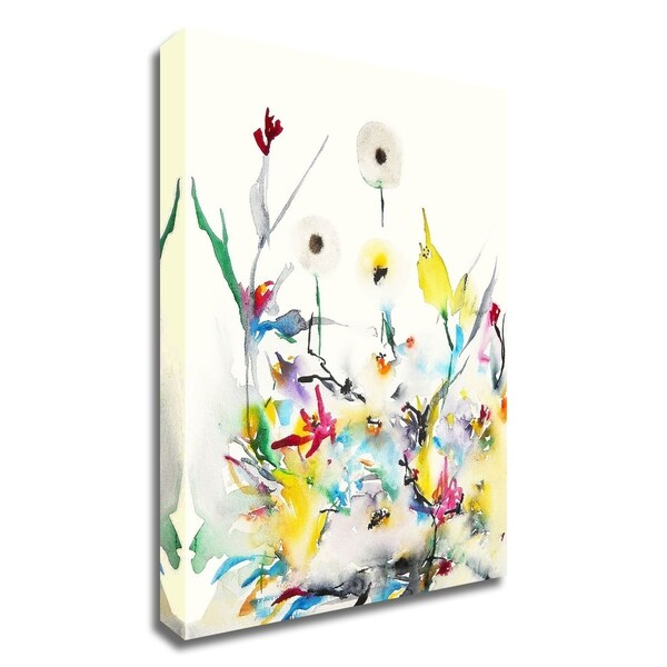 """""""Summer Garden VI"""" by Karin Johannesson, Print on Canvas, Ready to Hang"""