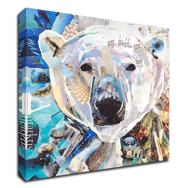 """Polar Bear"" by James Grey, Print on Canvas, Ready to Hang"