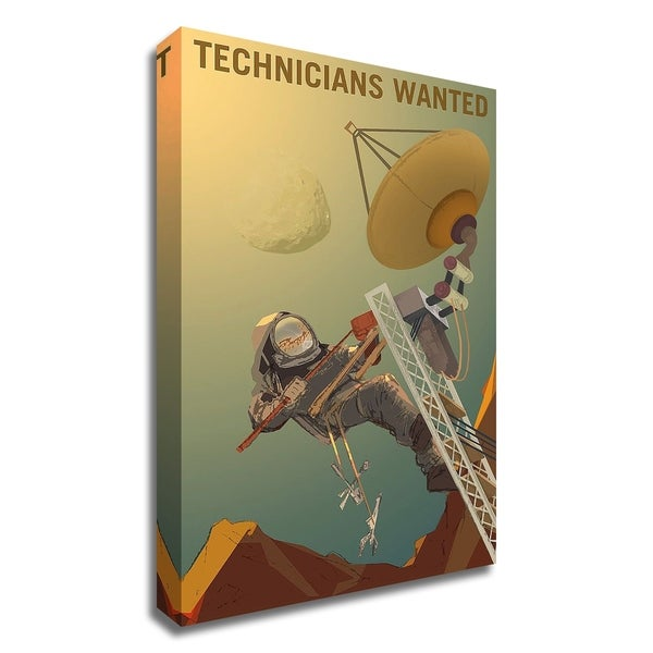 """""""Technicians Wanted"""" by NASA, Print on Canvas, Ready to Hang"""