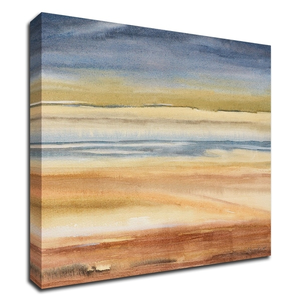 """""""Waves on the Shore"""" by Nancy Knight, Print on Canvas, Ready to Hang"""