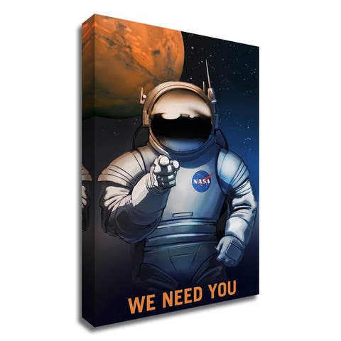 """We Need You"" by NASA, Print on Canvas, Ready to Hang"
