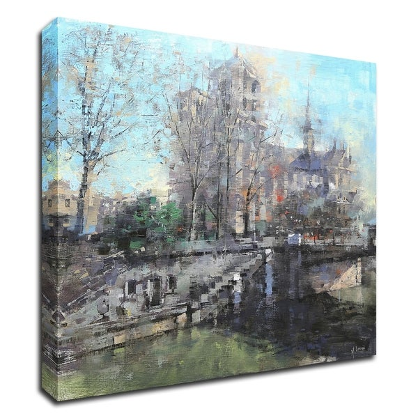 """Notre Dame on the Seine"" by Mark Lague, Print on Canvas, Ready to Hang"