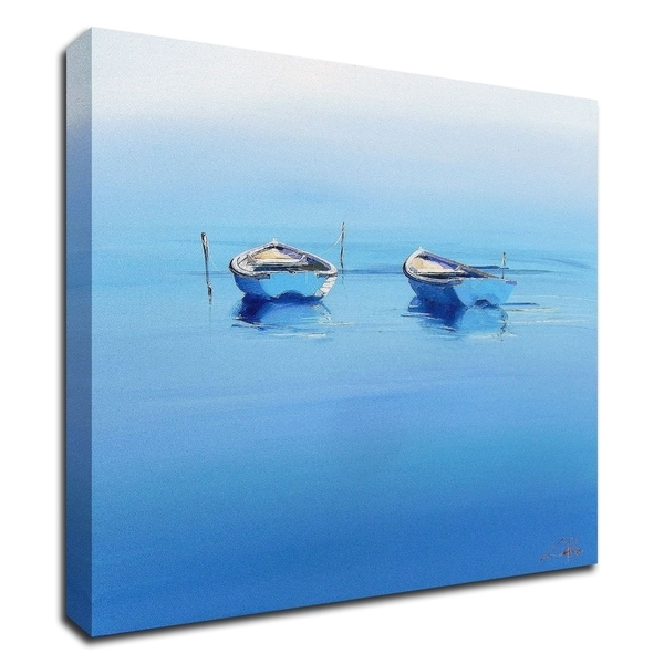 """""""Late Moorings"""" by Craig Trewin Penny, Print on Canvas, Ready to Hang"""