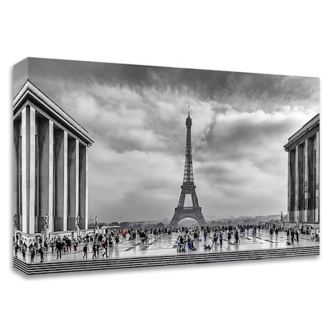 """Eiffel"" by Vladimir Kostka, Print on Canvas, Ready to Hang"