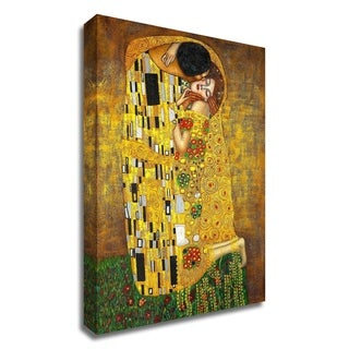 """The Kiss"" by Gustav Klimt, Print on Canvas, Ready to Hang"