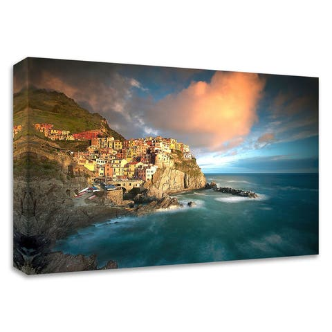 """""""Cinque Terre, Italia"""" by Alan Klug, Print on Canvas, Ready to Hang"""