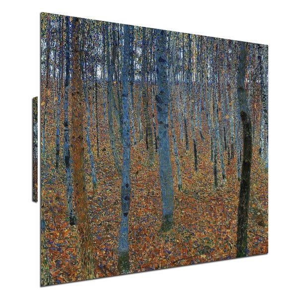 """Beech Grove I"" by Gustav Klimt, Print on Canvas, Ready to Hang"