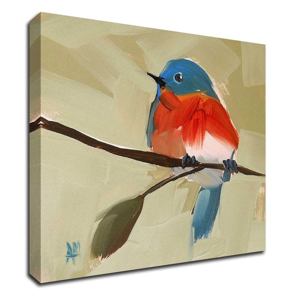 """""""Bluebird No. 21"""" by Angela Moulton, Print on Canvas, Ready to Hang"""