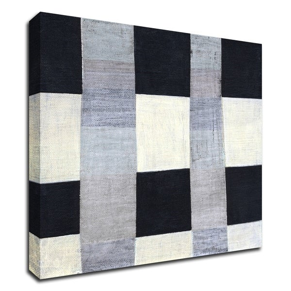 """""""Gray Plaid 2"""" by Laura Nugent, Print on Canvas, Ready to Hang"""