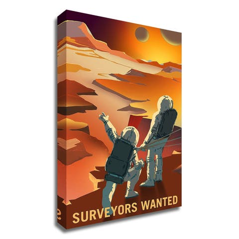 """Surveyors Wanted"" by NASA, Print on Canvas, Ready to Hang"