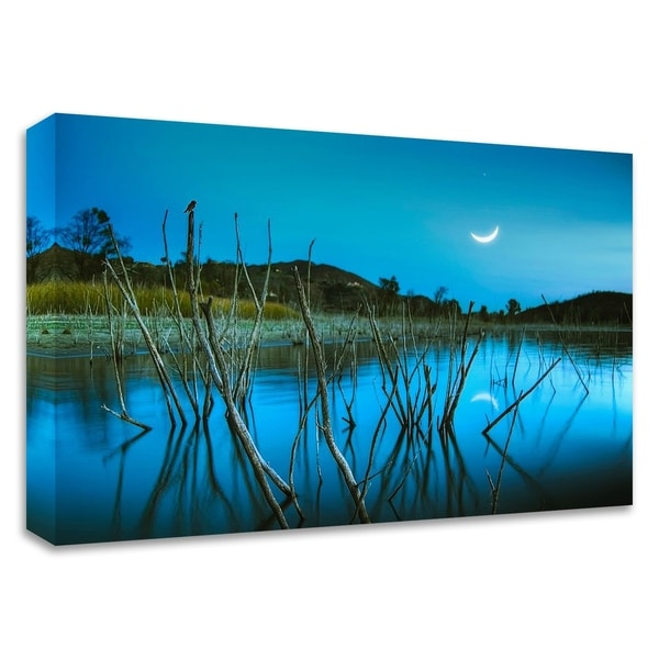 """""""The Blue Lake"""" by Lee Sie, Print on Canvas, Ready to Hang"""