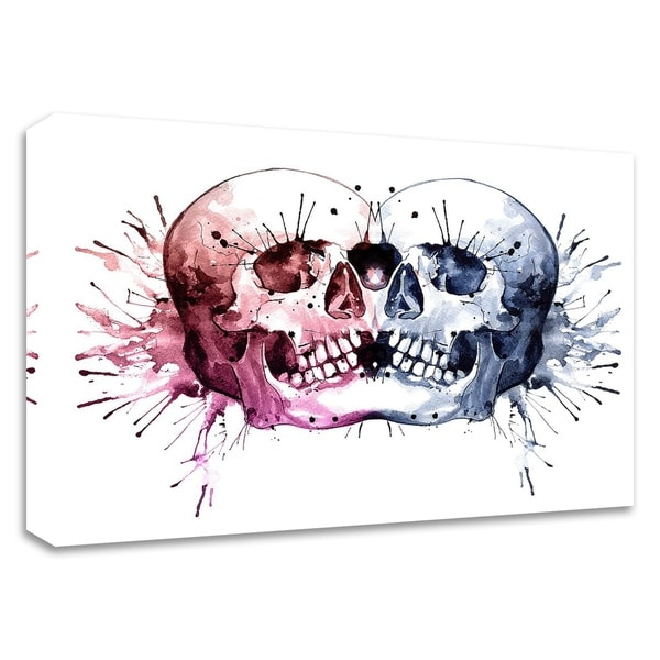 """Conjoined Skull"" by Sam Nagel, Print on Canvas, Ready to Hang"
