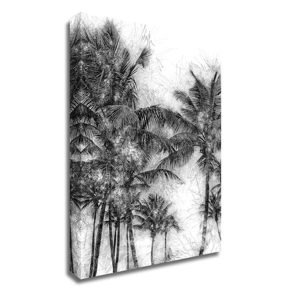 """""""Dorado Palms 1"""" by Golie Miamee, Print on Canvas, Ready to Hang"""