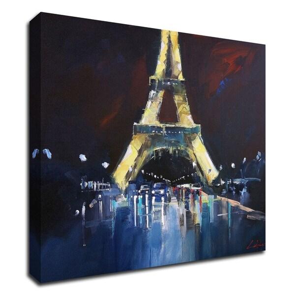 """Eiffel Rain"" by Craig Trewin Penny, Print on Canvas, Ready to Hang"