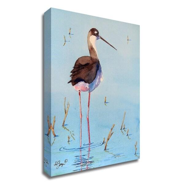 """Black Neck Stilt III"" by Nancy LaBerge Muren, Print on Canvas, Ready to Hang"