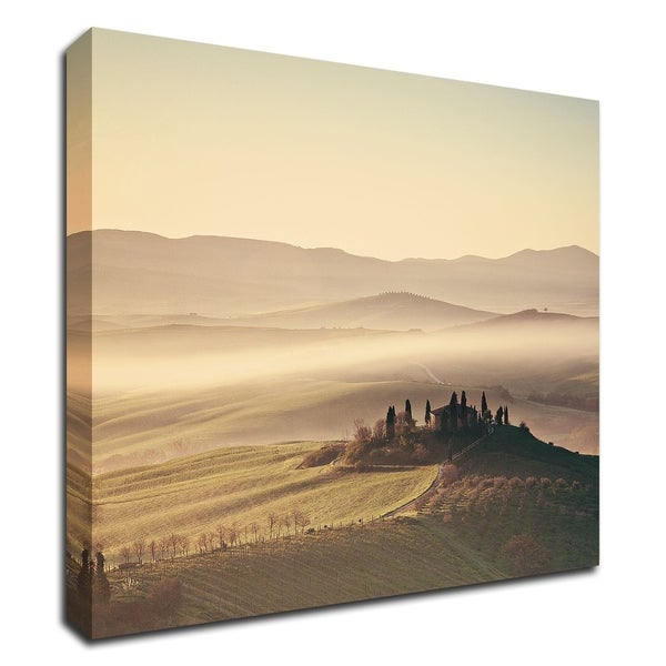 """Tuscan Sunrise"" by Margaret Morrissey, Print on Canvas, Ready to Hang"
