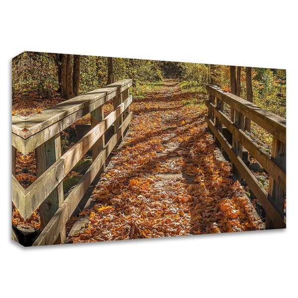 """Fall On The Footbridge"" by Tim Oldford, Print on Canvas, Ready to Hang"