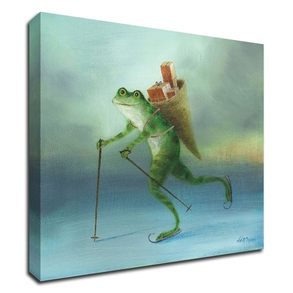 """""""The Yuletide Frog"""" by DD McInnes, Print on Canvas, Ready to Hang"""