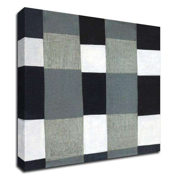 """Gray Plaid 1"" by Laura Nugent, Print on Canvas, Ready to Hang"
