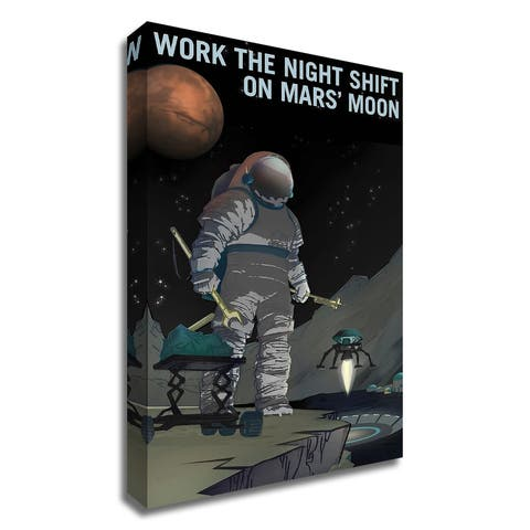 """Work the Night Shift"" by NASA, Print on Canvas, Ready to Hang"