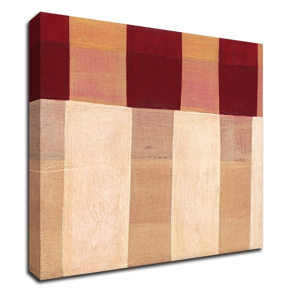 """Broken Stripes 1"" by Laura Nugent, Print on Canvas, Ready to Hang"