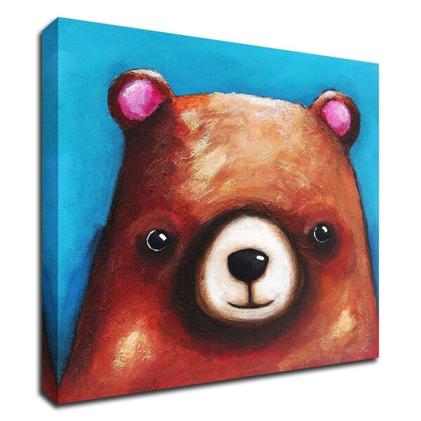 """""""The Brown Bear"""" by Lucia Stewart, Print on Canvas, Ready to Hang"""
