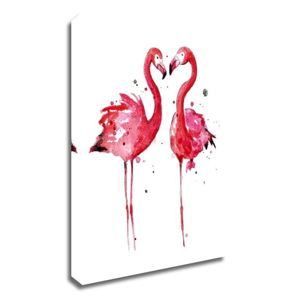 """""""Pink Flamingos"""" by Sam Nagel, Print on Canvas, Ready to Hang"""