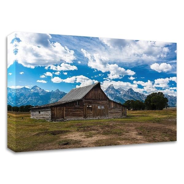"""Grand Teton Barn I"" by Tim Oldford, Print on Canvas, Ready to Hang"