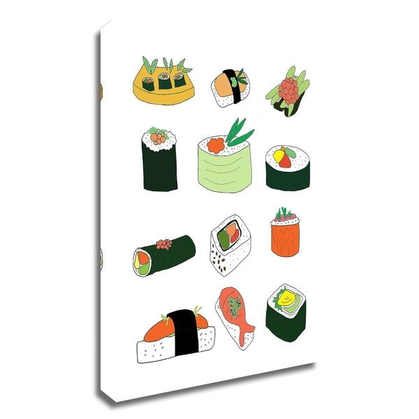 """Sushi Set"" by Jan Weiss, Print on Canvas, Ready to Hang"