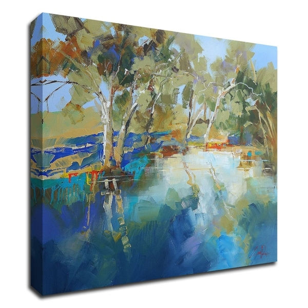 """""""Cobram Creek"""" by Craig Trewin Penny, Print on Canvas, Ready to Hang"""