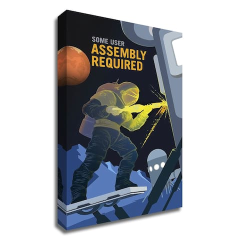 """Assembly Required"" by NASA, Print on Canvas, Ready to Hang"
