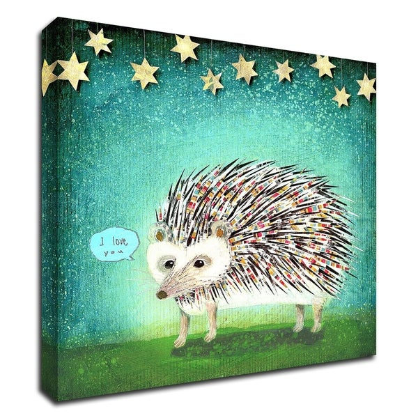 """Porcupine for Thomas"" by Judy Verhoeven, Print on Canvas, Ready to Hang"