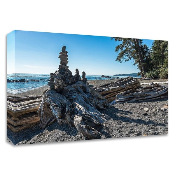 """""""Sombrio Inukshuk"""" by Tim Oldford, Print on Canvas, Ready to Hang"""