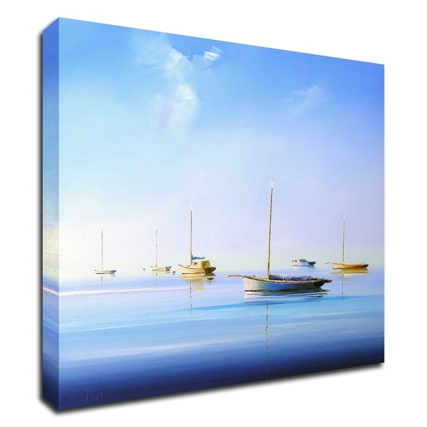 """""""Blue Couta 2"""" by Craig Trewin Penny, Print on Canvas, Ready to Hang"""