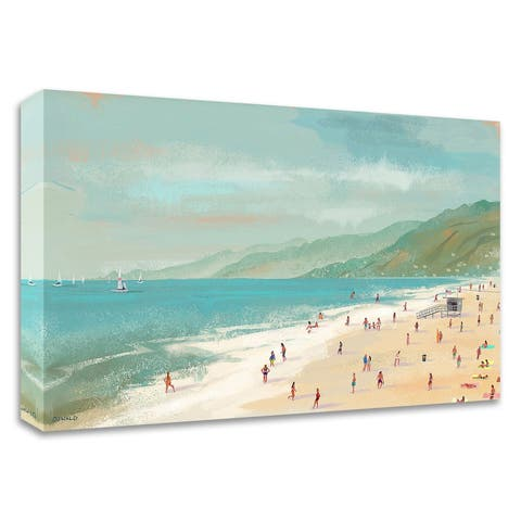"""""""Santa Monica Beach"""" by Pete Oswald, Print on Canvas, Ready to Hang"""