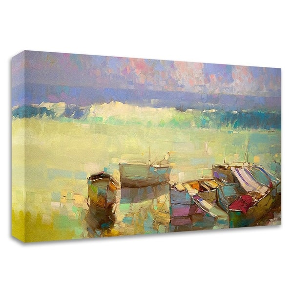 """""""Rowboats"""" by Vahe Yeremyan, Print on Canvas, Ready to Hang"""