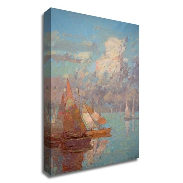 """""""Sail Boats"""" by Vahe Yeremyan, Print on Canvas, Ready to Hang"""