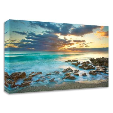 """""""Ocean Sunrise"""" by Patrick Zephyr, Print on Canvas, Ready to Hang"""