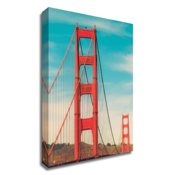 """Golden Gate in The Morning"" by Sonja Quintero, Print on Canvas, Ready to Hang"