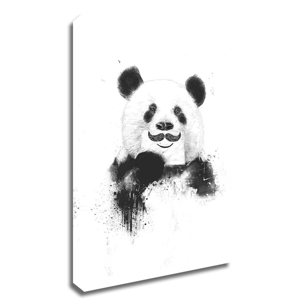 """""""Funny Panda"""" by Balazs Solti, Print on Canvas, Ready to Hang"""
