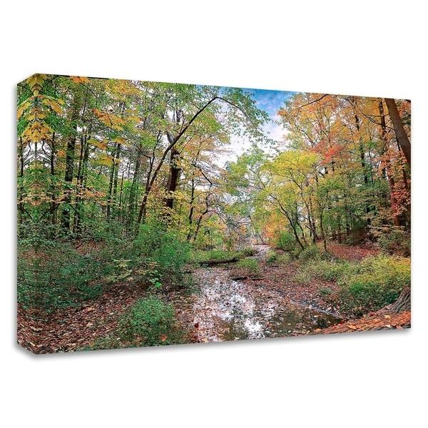 """Autumn at Hopkins Pond"" by John Rivera, Print on Canvas, Ready to Hang"