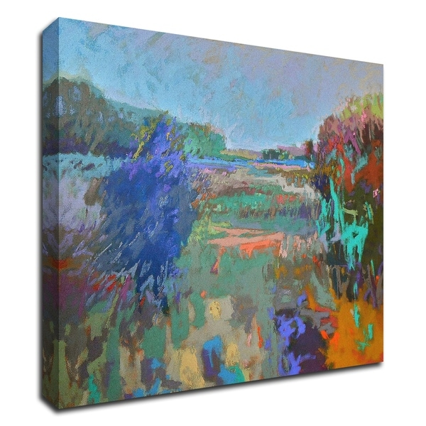 """""""Color Field 45"""" by Jane Schmidt, Print on Canvas, Ready to Hang"""