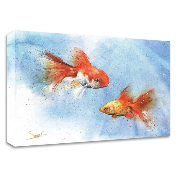 """Goldfish"" by Eric Sweet, Print on Canvas, Ready to Hang"