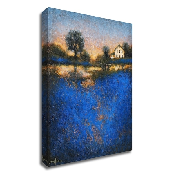"""Blue Fields"" by Thomas Stotts, Print on Canvas, Ready to Hang"