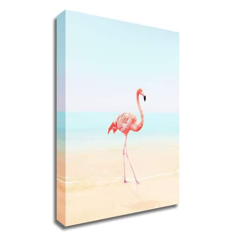 """""""Flamingo on the Beach II"""" by Tai Prints, Print on Canvas, Ready to Hang"""