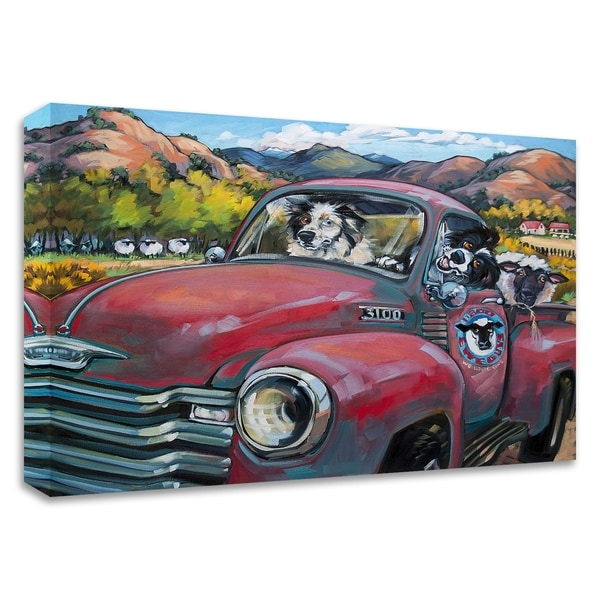 """""""1-800 Ewe Guys"""" by CR Townsend, Print on Canvas, Ready to Hang"""